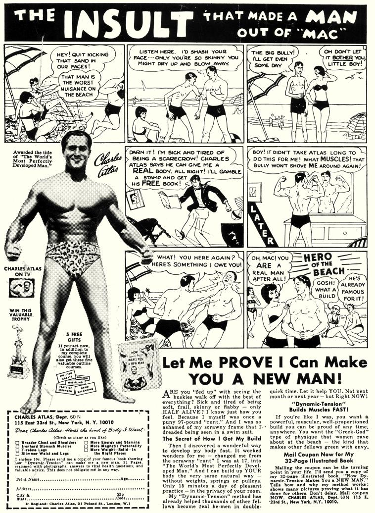 Image result for Charles Atlas comic ad