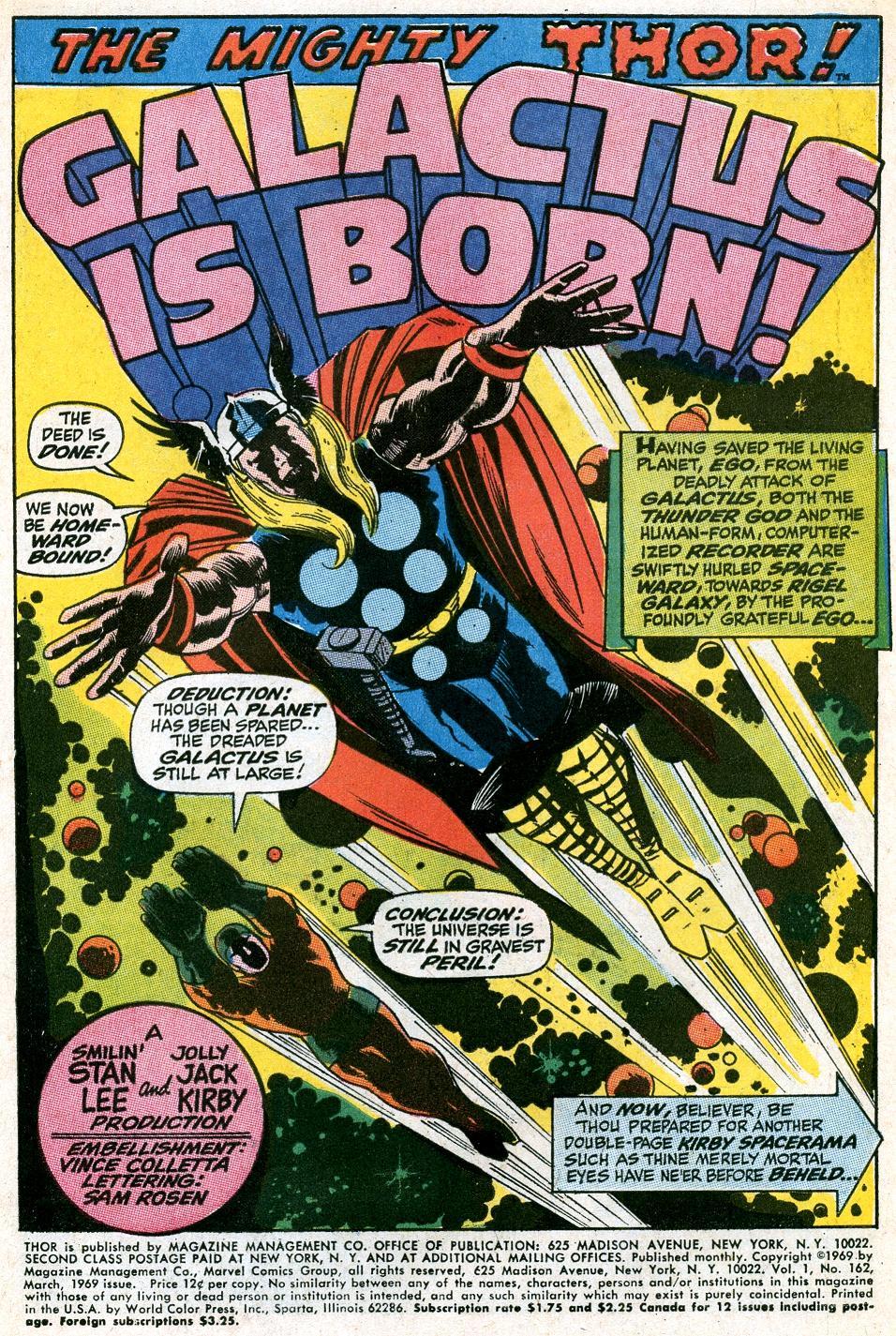 Thor 162: Origin of Galactus – Part 1   Mars Will Send No More