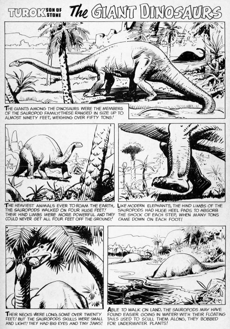 dinosaurs of turok  complete black and white gallery
