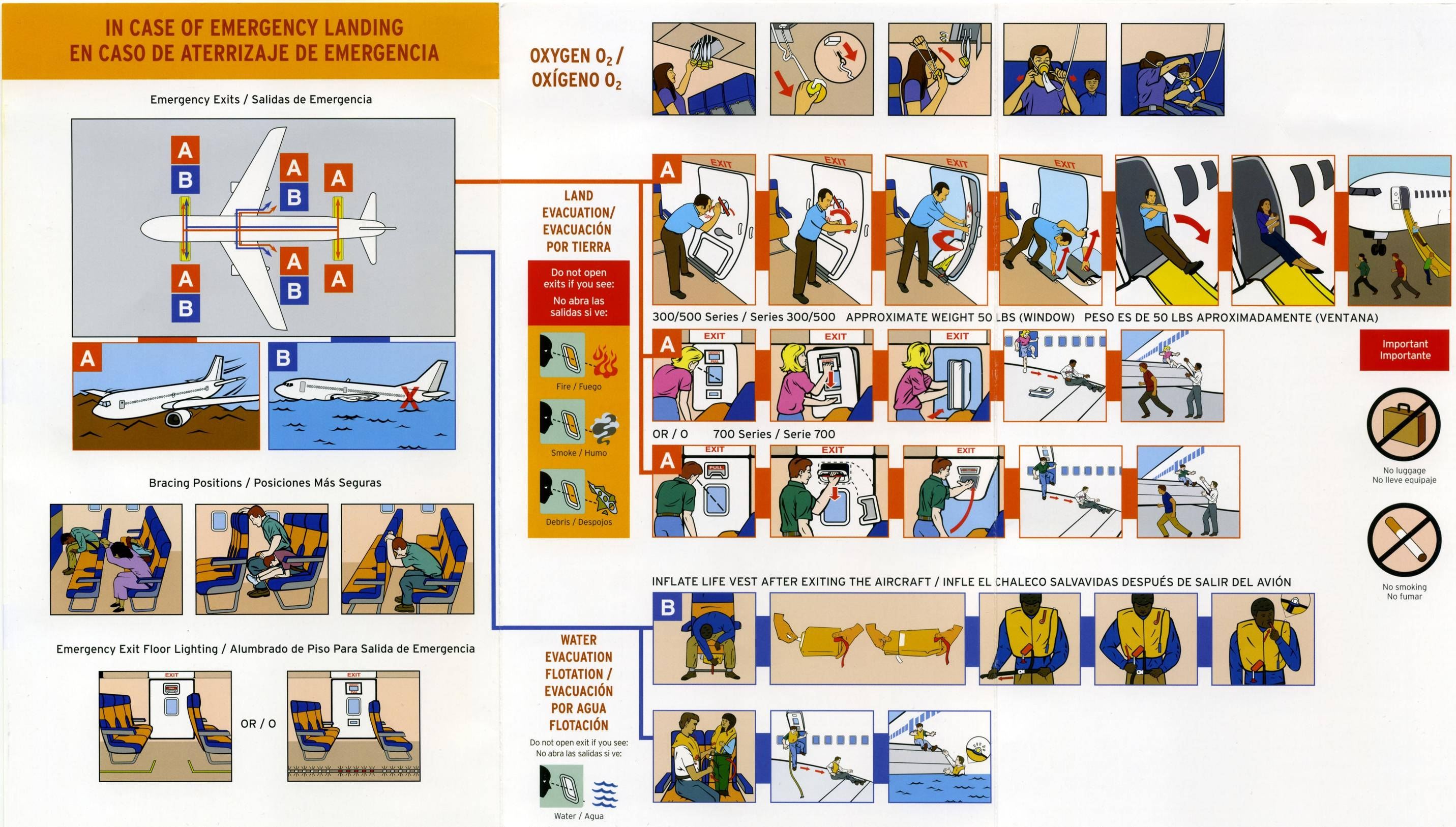 Airplane safety instructions by negen meme center.
