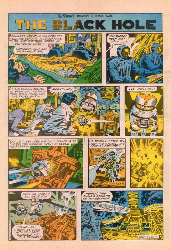 Scenes from Jack Kirby's Black Hole Adaptation! | Mars ...