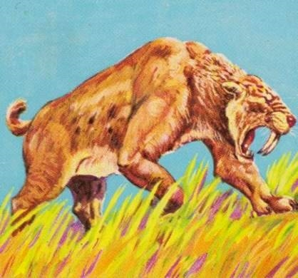 Animals of the Past - kalmenoff- smilodon stamp