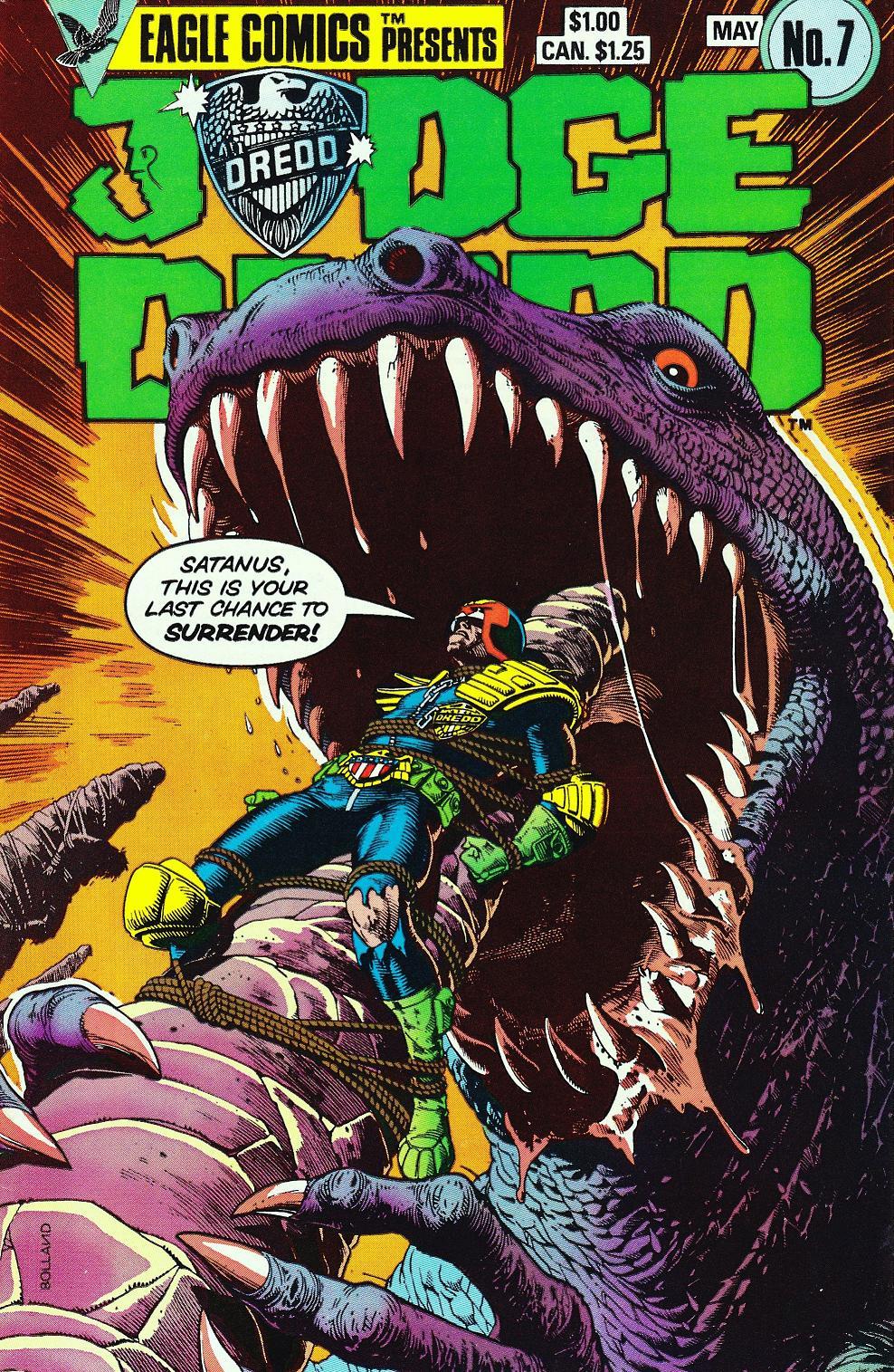 The Secret Stories >> Judge Dredd versus Satanus, the Black Tyrannosaur! | Mars Will Send No More