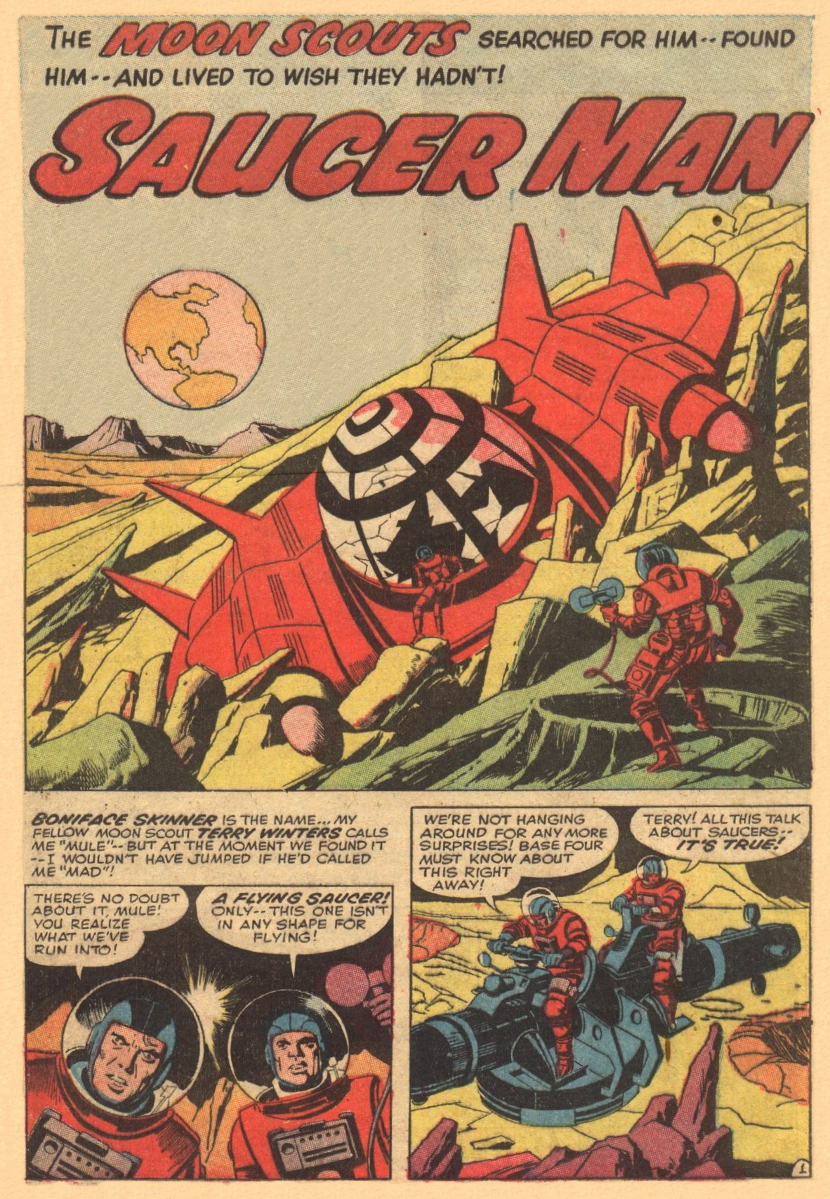 Race For The Moon: Saucer Man!