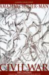 amazing spider man civil war sketch variant-001