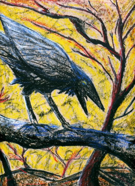 charcoal bird 2 -001