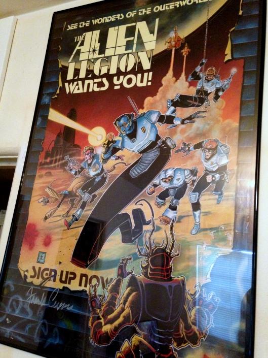 alien legion poster frank cirocco signed
