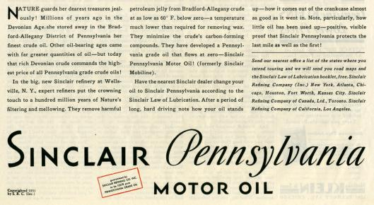 sinclair ads 1931 saturday evening post-002