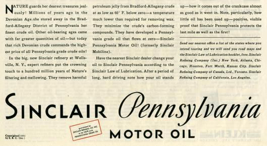 sinclair ads 1931 saturday evening post-002