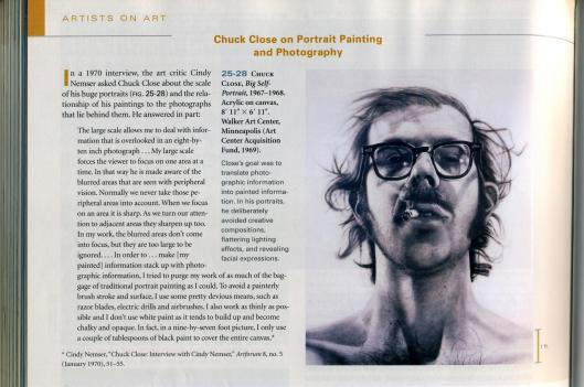 art history book chuck close