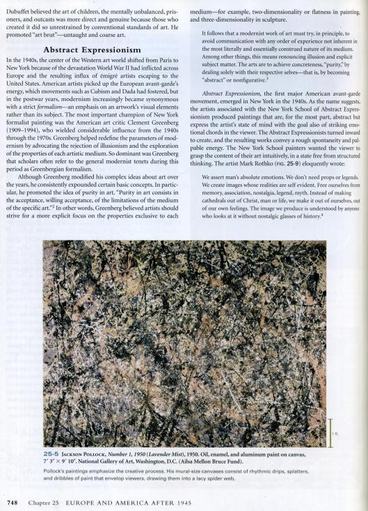 art history book - jackson pollock 1