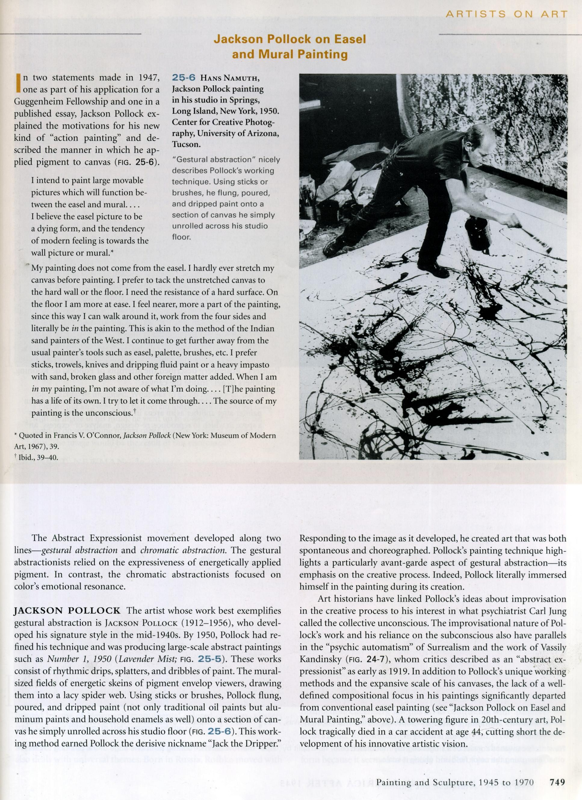 thesis statement on jackson pollock