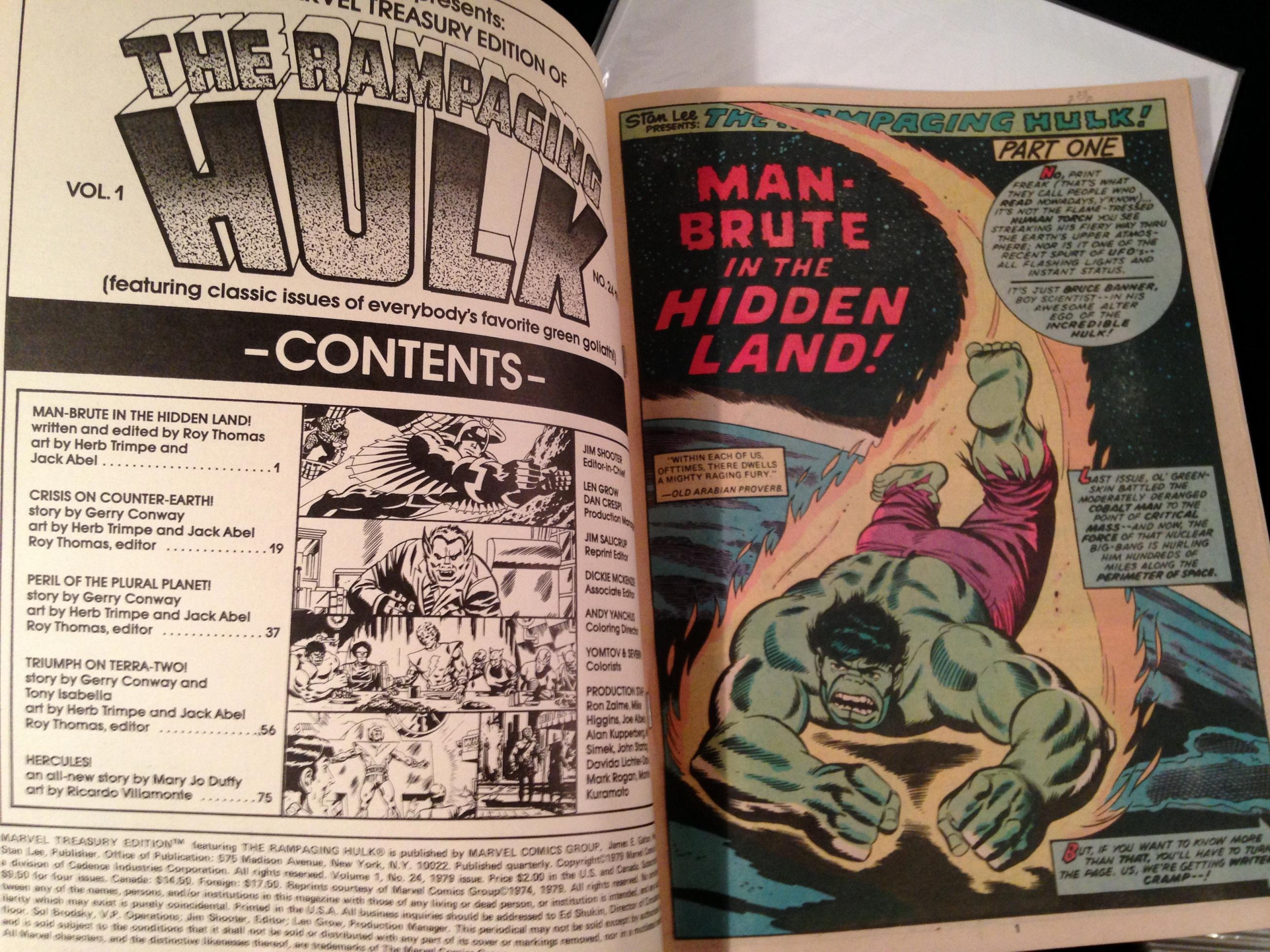Marvel Treasury Edition 24 Rampaging Hulk Warlock (15)