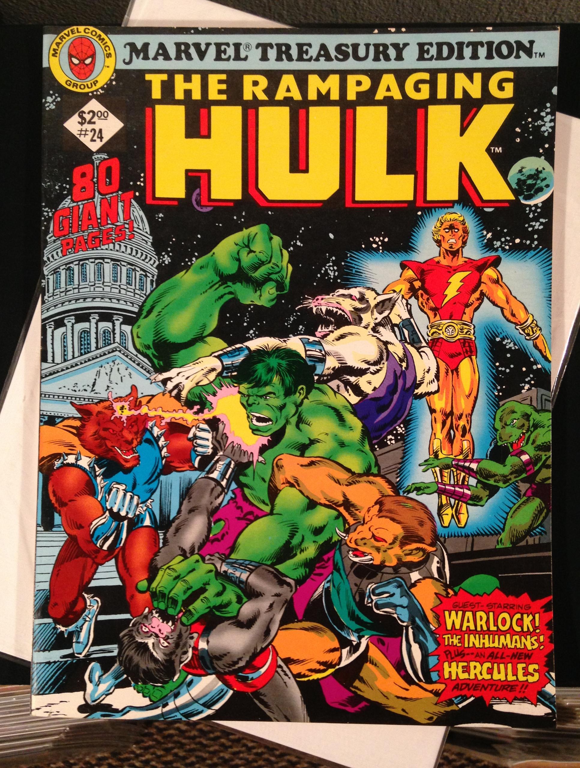 Marvel Treasury Edition 24 Rampaging Hulk Warlock (2)