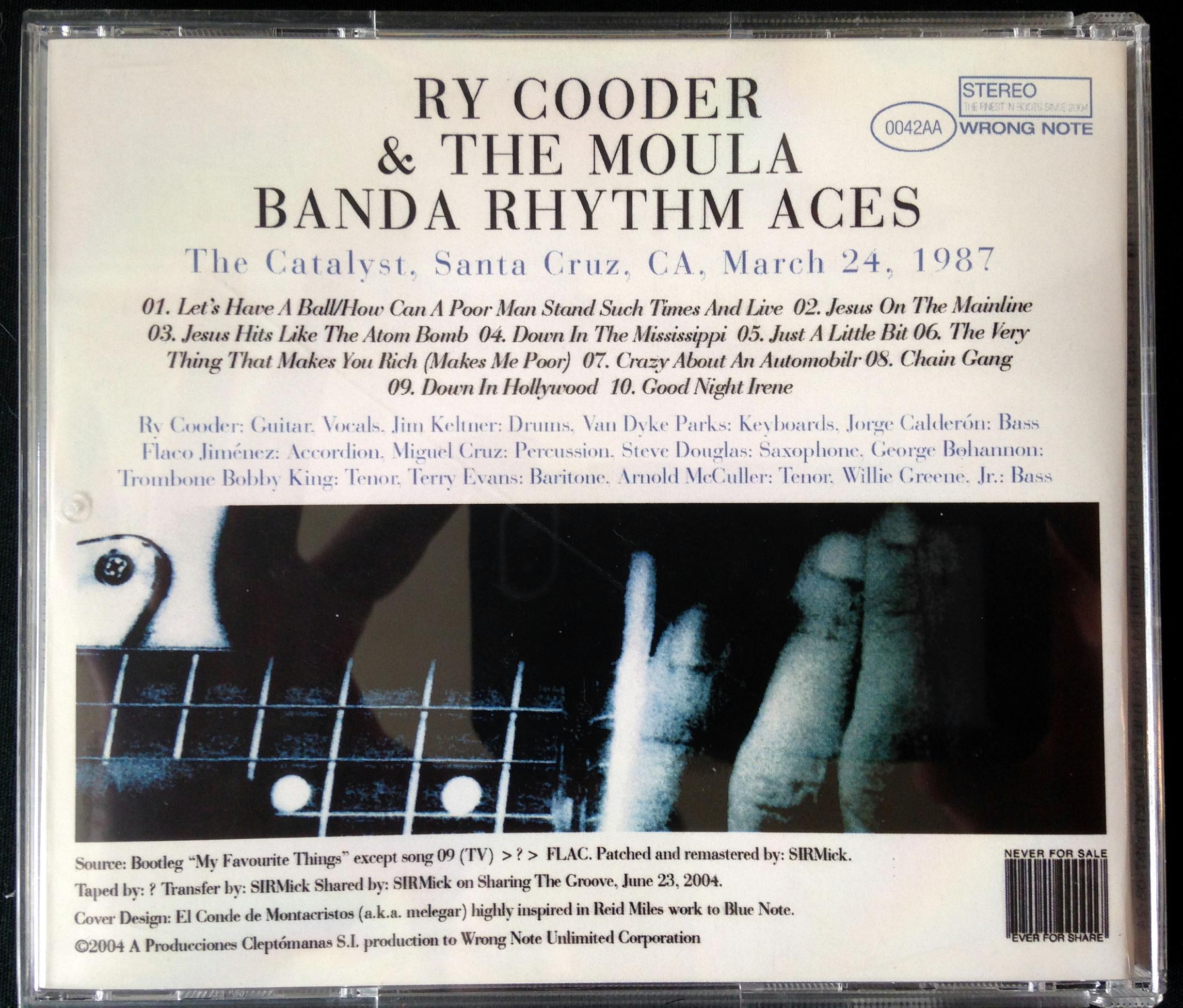 Ry Cooder and the Moula Banda Rhythm Aces CD (6)