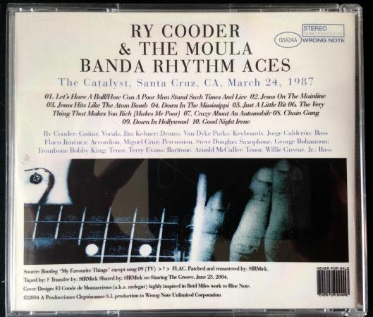 Ry Cooder and the Moula Banda Rhythm Aces CD (6)