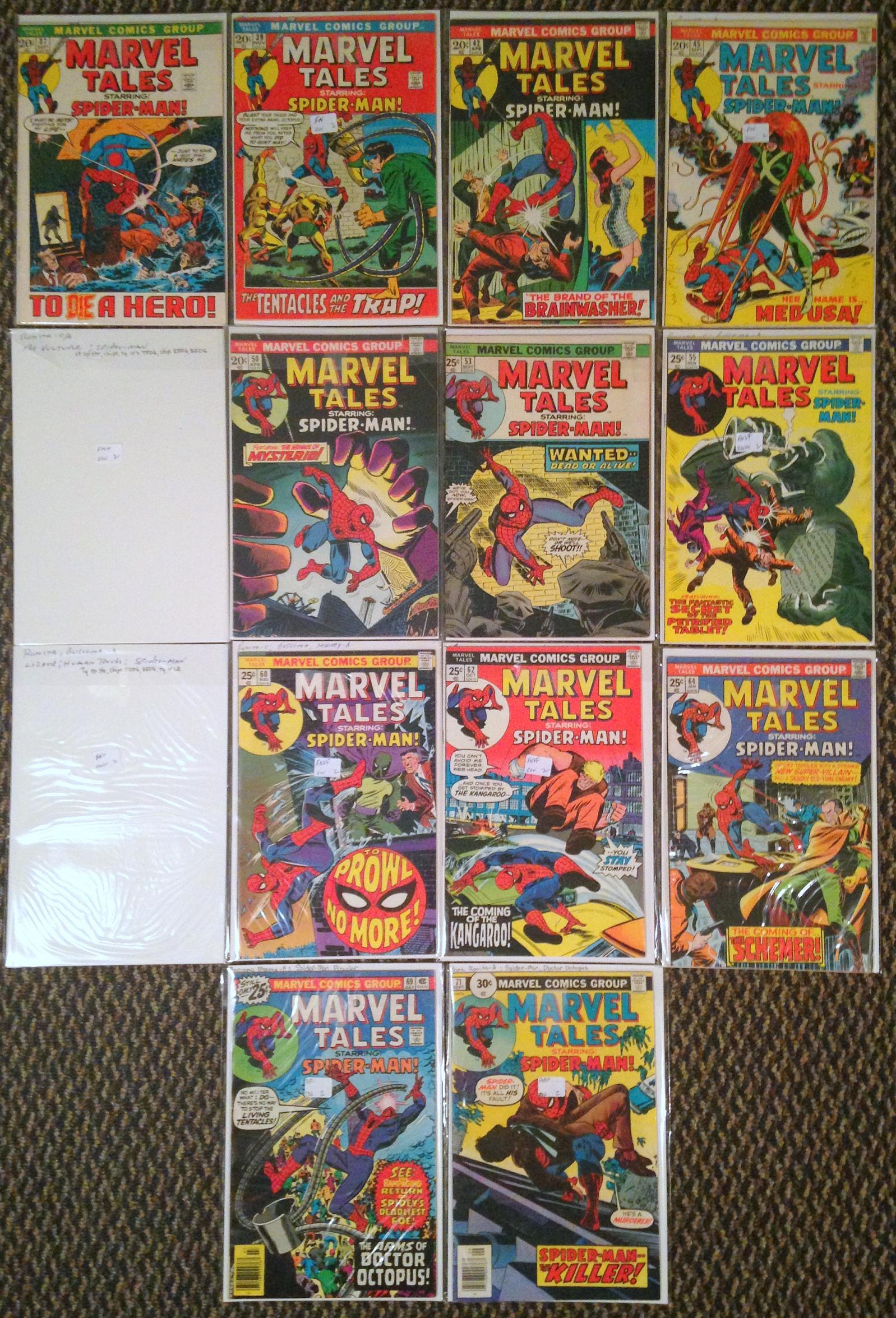 marvel tales spider-man romita 36-71 lot (3)