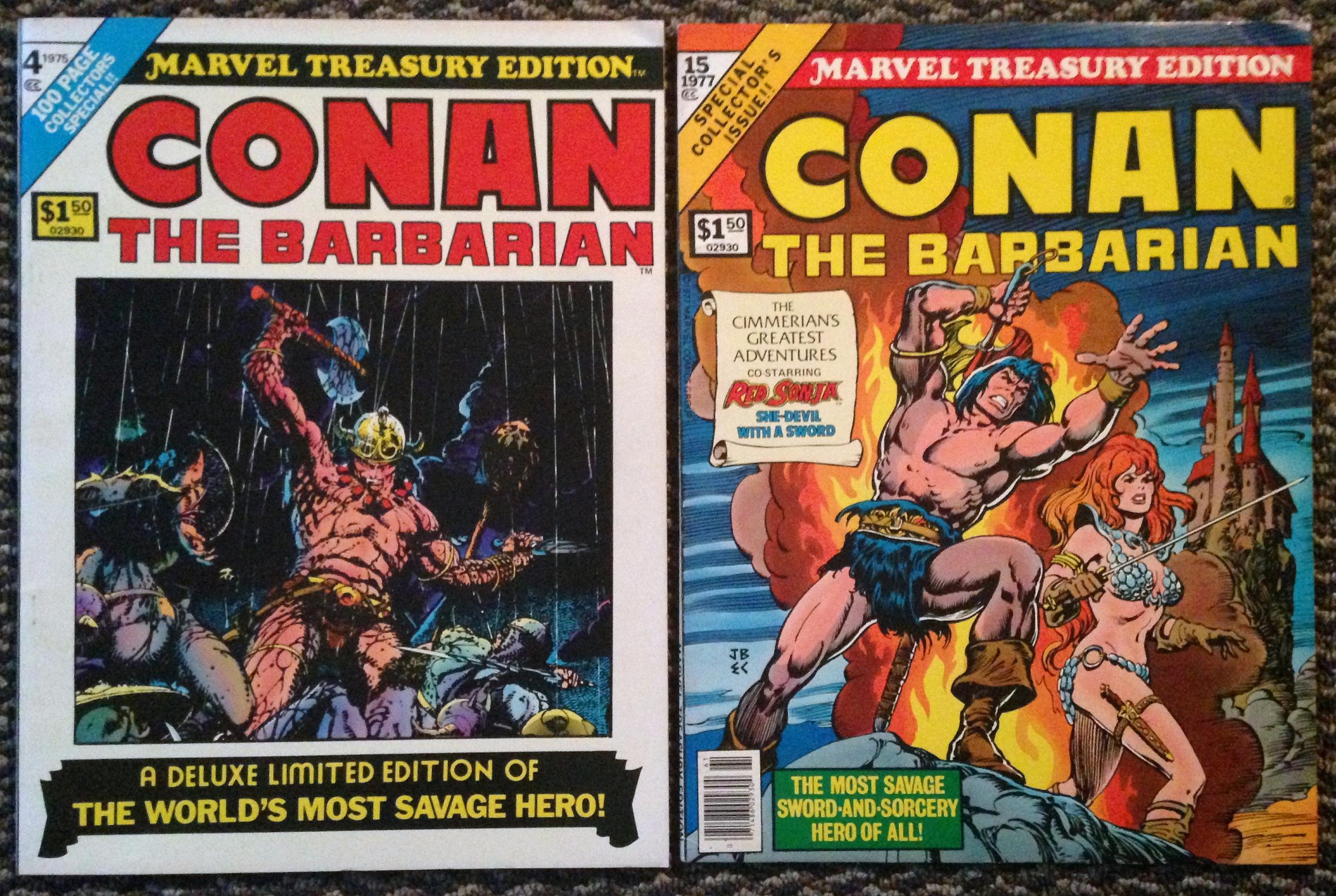 marvel treasury edition conan set (2)