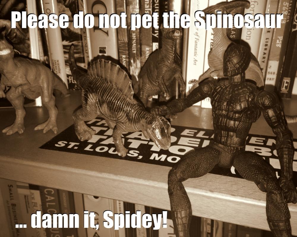please dont pet the dinosaurs