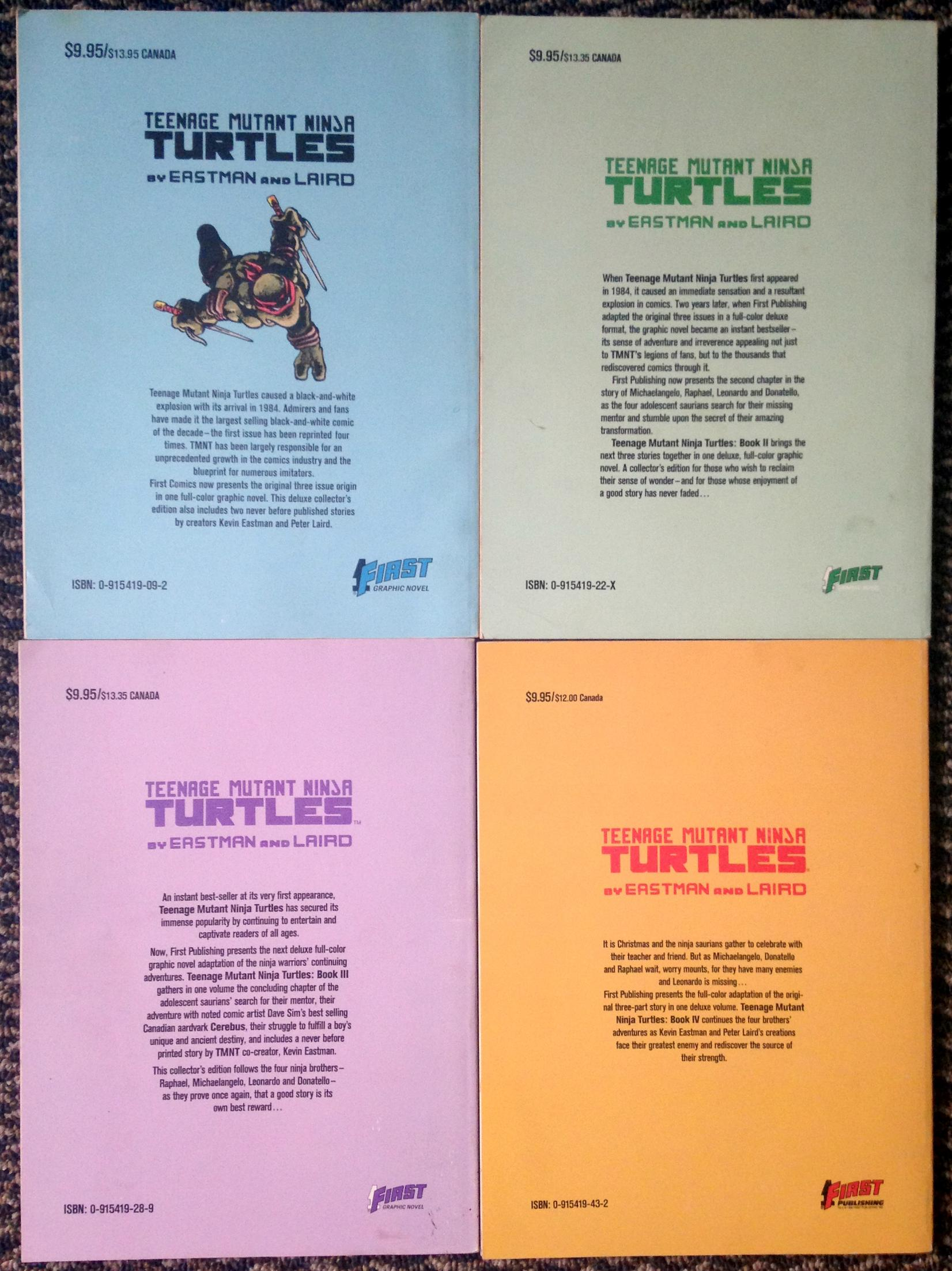 teenage mutant ninja turtles graphic novel set (3)
