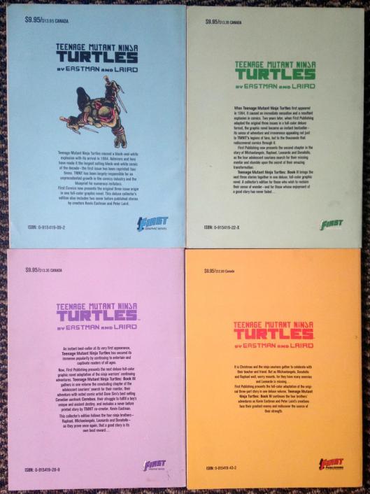 teenage mutant ninja turtles graphic novel set (3)