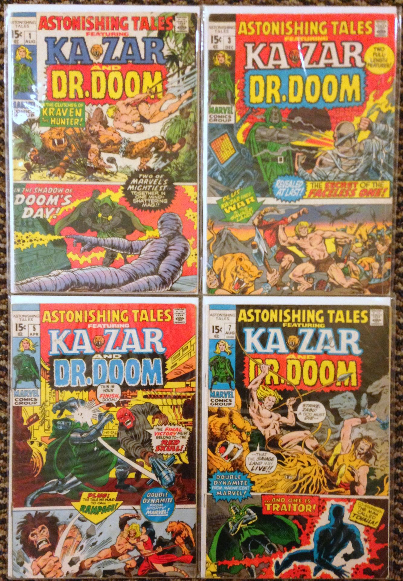 astonishing tales 1-8 ka-zar doom set (2)