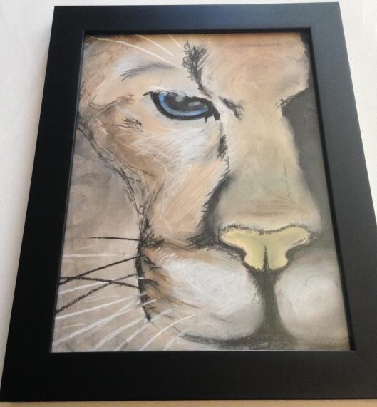 pastel puma framed (4)