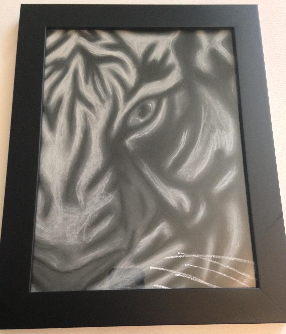 pastel tiger framed (1)