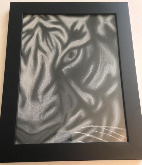 pastel tiger framed (1)