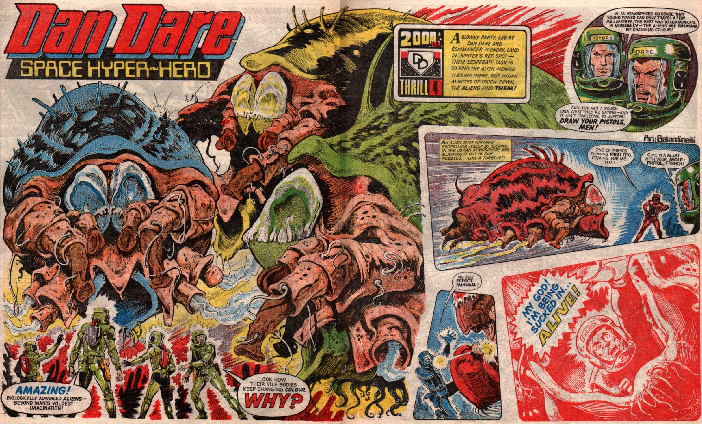 Dan Dare ad 2000ad Cover