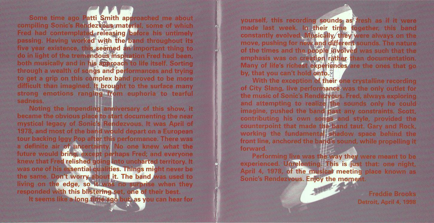 sonics rendezvous sweet nothing cd liner (4)