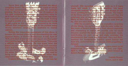 sonics rendezvous sweet nothing cd liner (4)