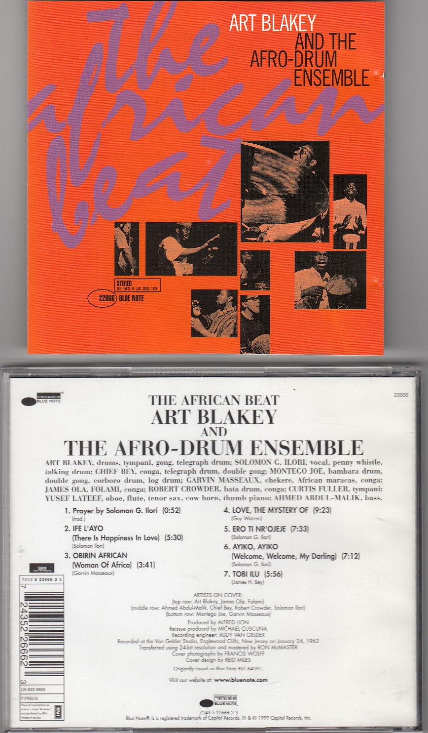 art blakey afro-drum ensemble african beat cd (2)
