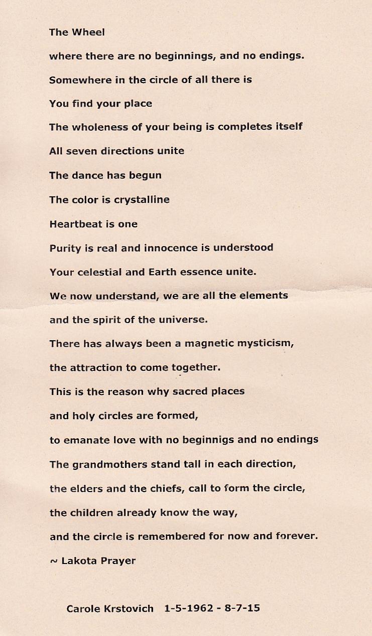 dia de los muertos lakota poem
