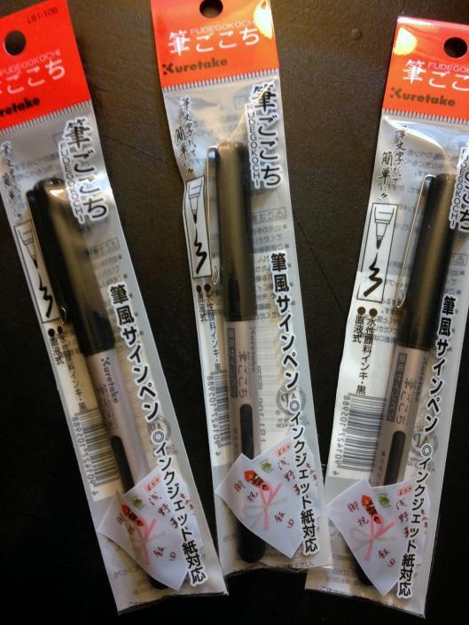 brush tip pens