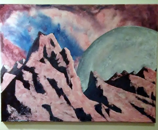 mountains in progress
