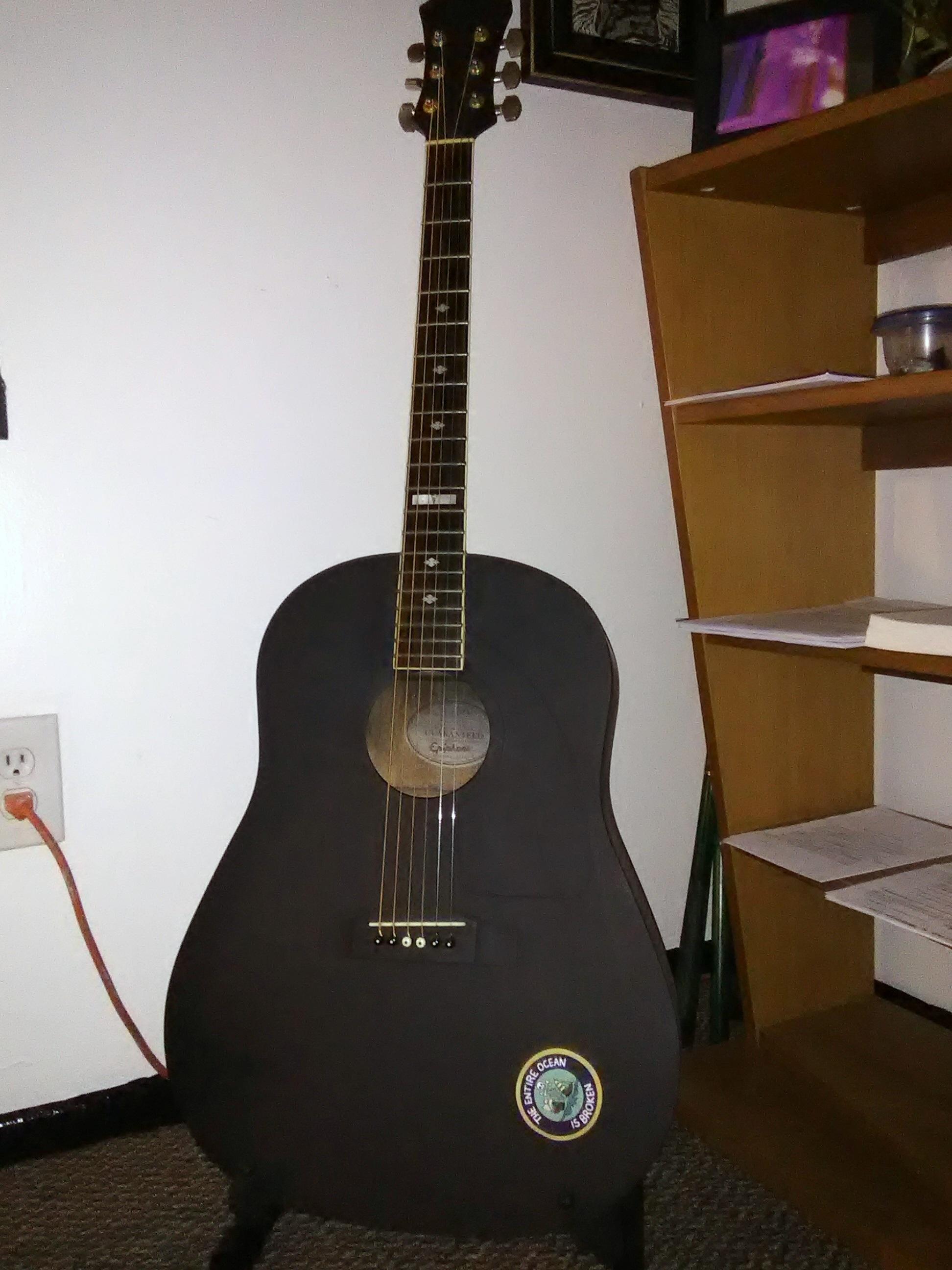 repainted guitar