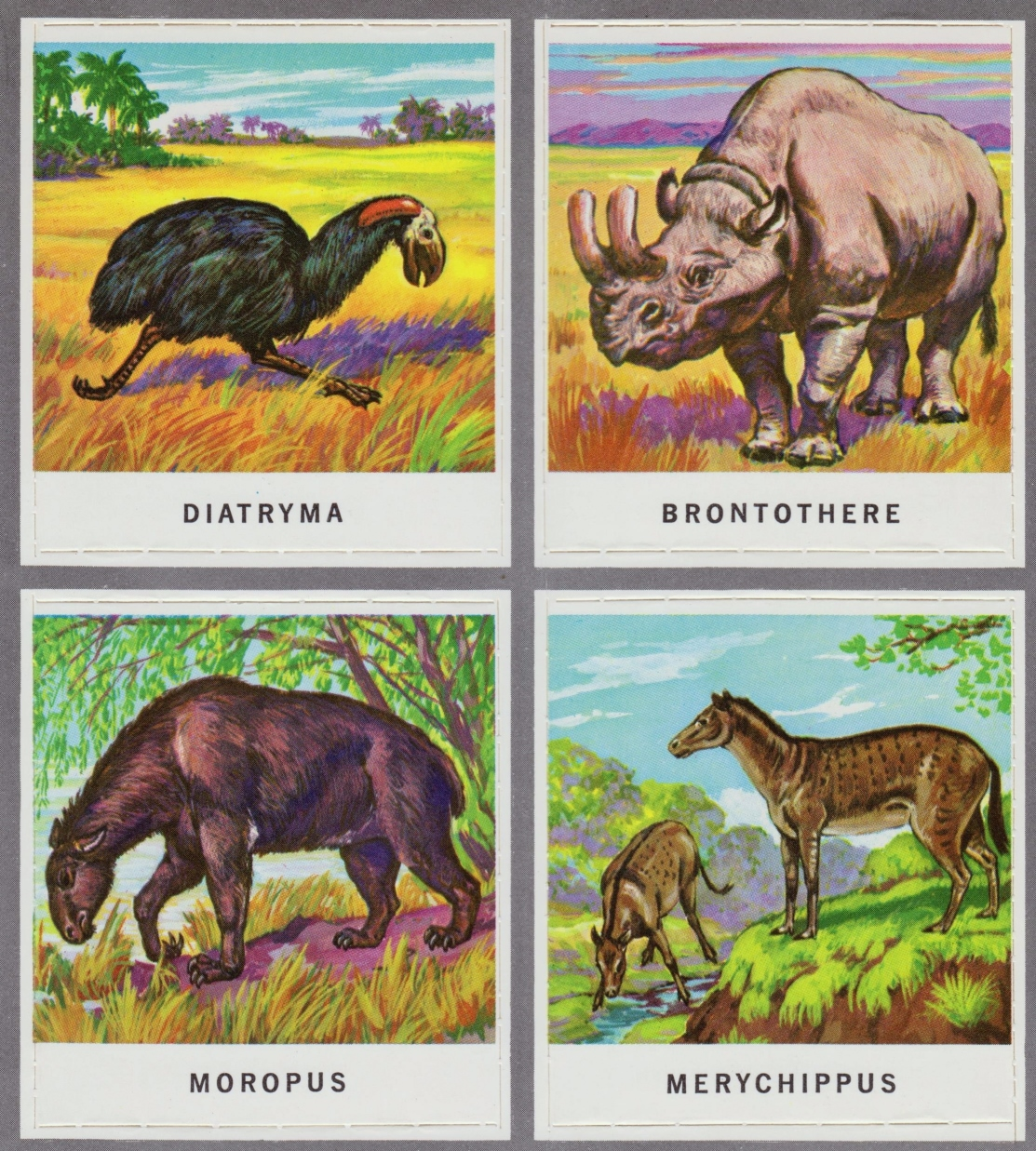 animals of the past stamps 007