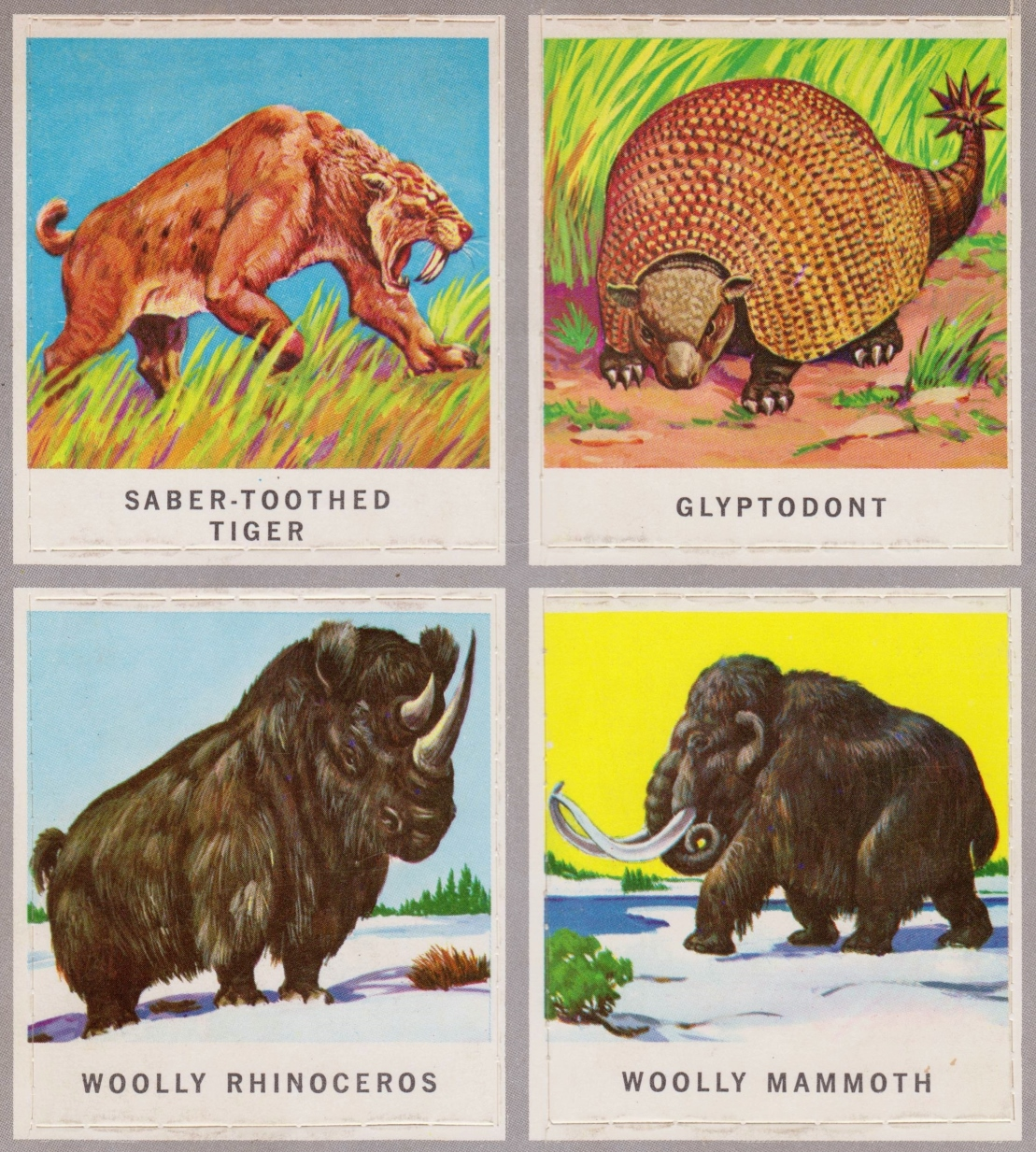 animals of the past stamps 009