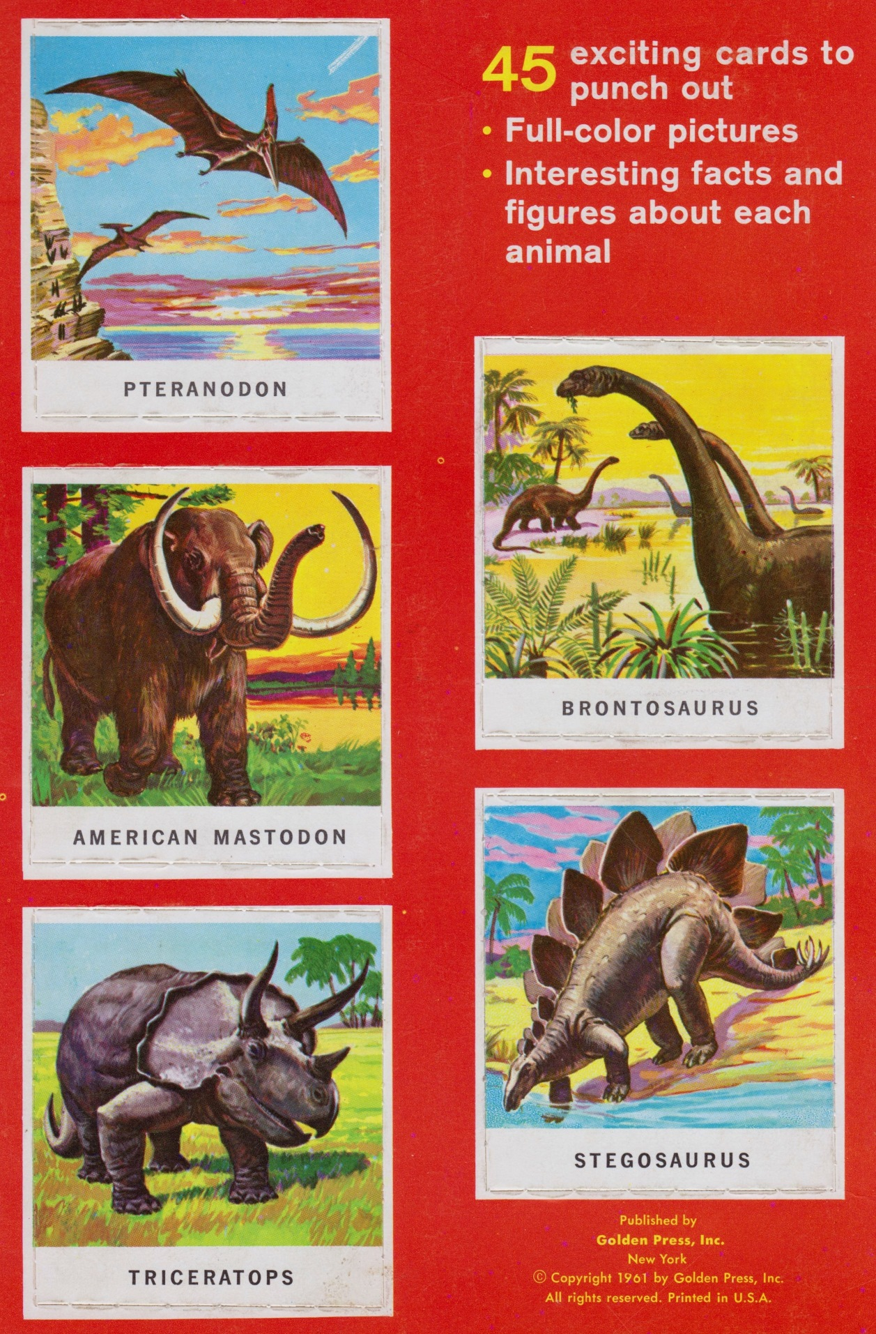 Golden funtime animals of the past Cover close up