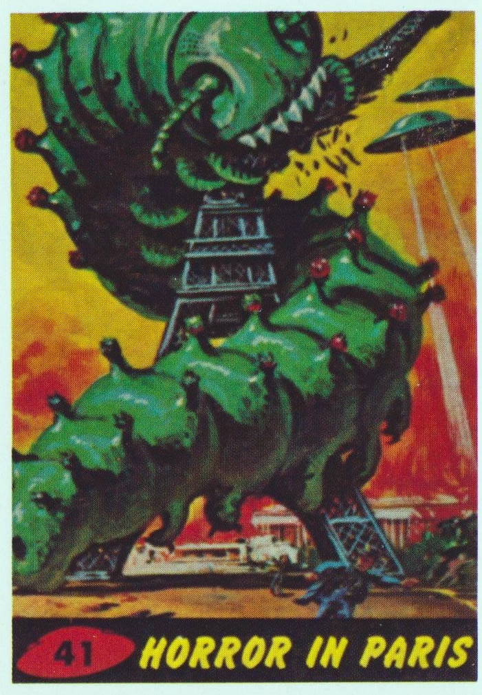 mars attacks cards - 41 horror in paris