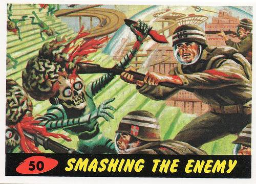 mars attacks cards 50 smashing the enemy