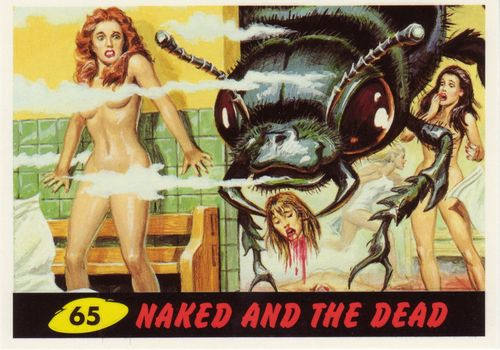 mars attacks cards 65 naked and the dead